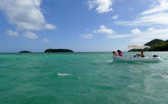 Location bateau sans permis journée Martinique