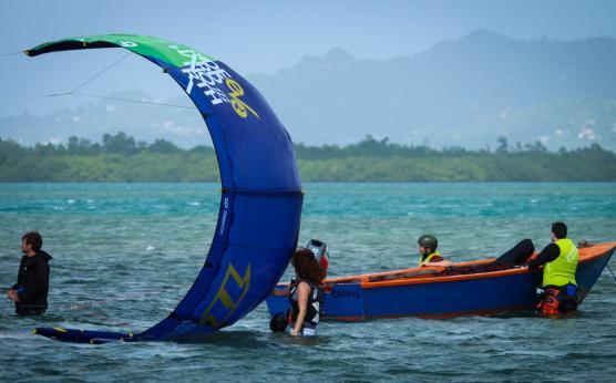 Kiter surf, Waterstart, Martinique
