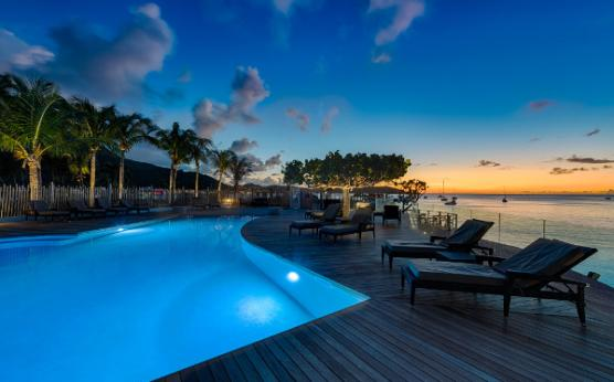 Grand Case Beach Club, Saint Martin, piscine de nuit
