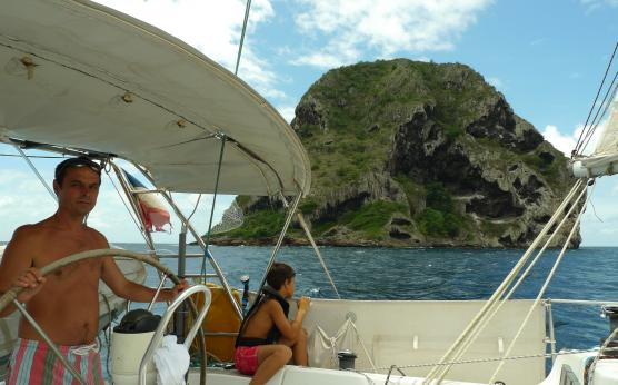 Diamond Rock sailing, Martinique
