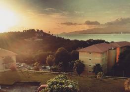Coucher de soleil sur la terrasse, Martinique